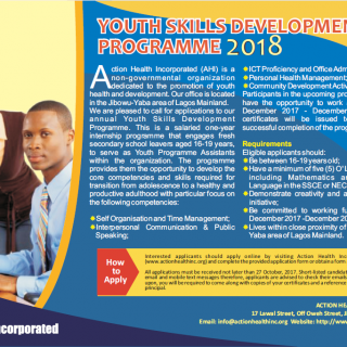 Youth Skills Development Programme 2018 – Apply Now!