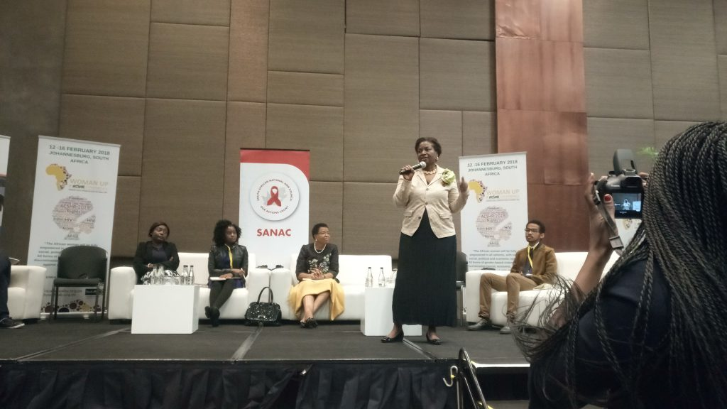 Photo 3: Dr. Natalia Kanem, Executive Director of the United Nations Population Fund (UNFPA) speaks at the intergenerational dialogue.